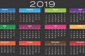 Kalender 2019- bij blogbericht Feestdagen in Spanje