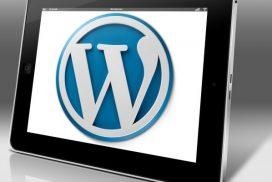 WordPress Thema kiezen - WordPress logo op tablet